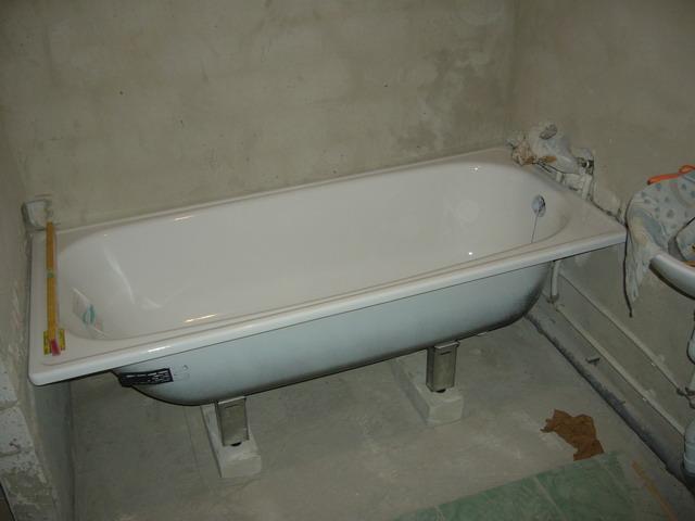 Установка ванны стальной своими руками фото